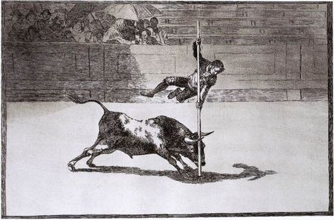 Goya: The Speed and Daring of Juanito Apiñani in the Ring of Madrid 1815–16 Etching and aquatint